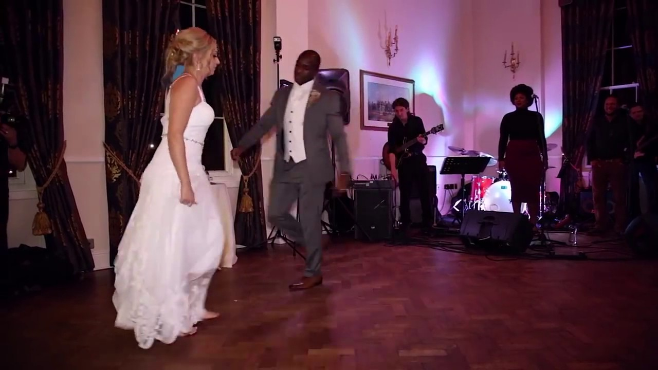 Full video of Nigerian groom & his Caucasian wife killing it at their wedding!