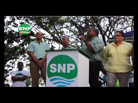 SNP TV Weekly Message 18 Wavel's speech at Anse Aux Pins 2015