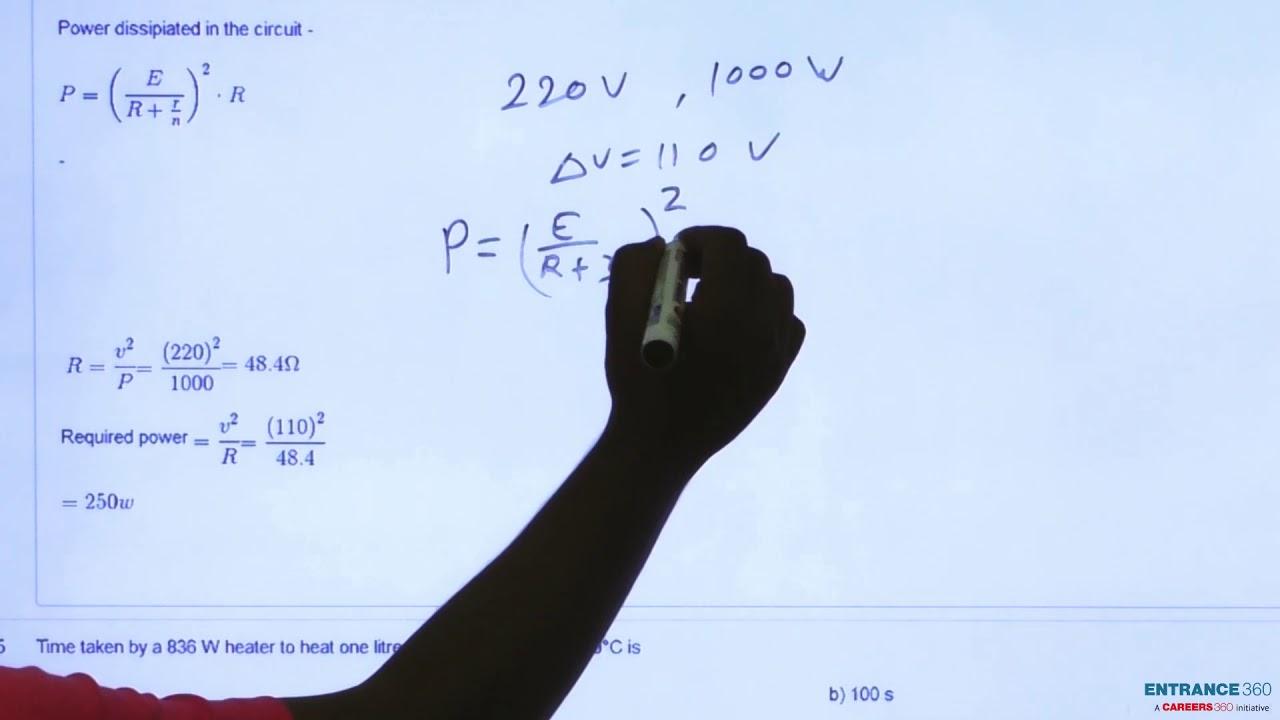 Solve it, A 220 volt, 1000 watt bulb is connected across a 110 volt