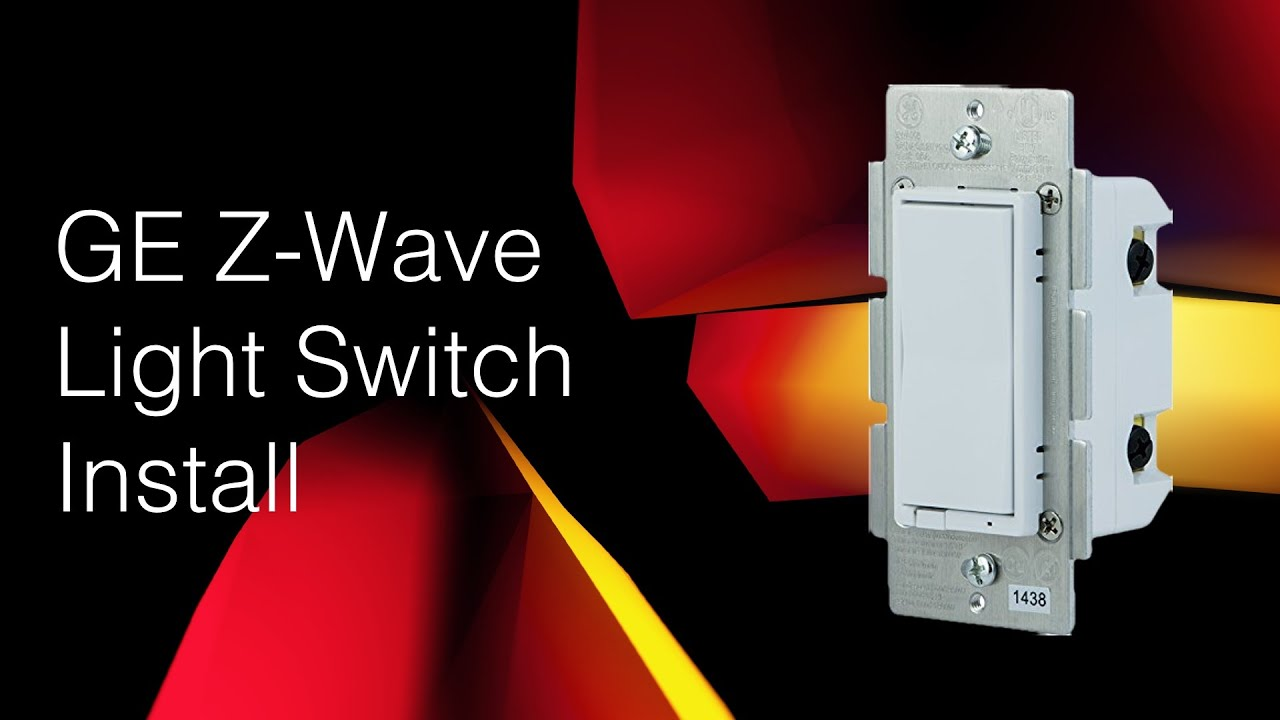 ge in wall smart switch install z wave  [ 1280 x 720 Pixel ]