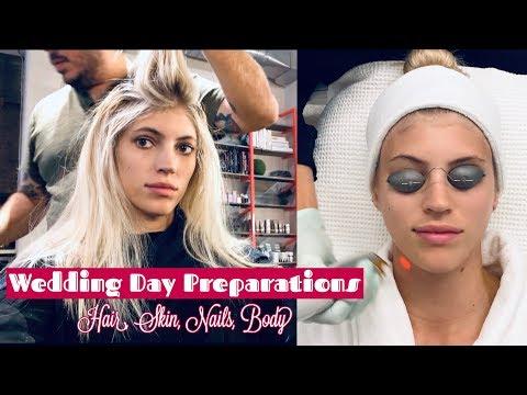Wedding Day Preparations | Hair, Skins, Nails, Body | Devon Windsor