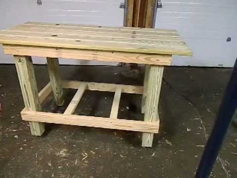 MY DIY Homemade Rolling Workbench YouTube