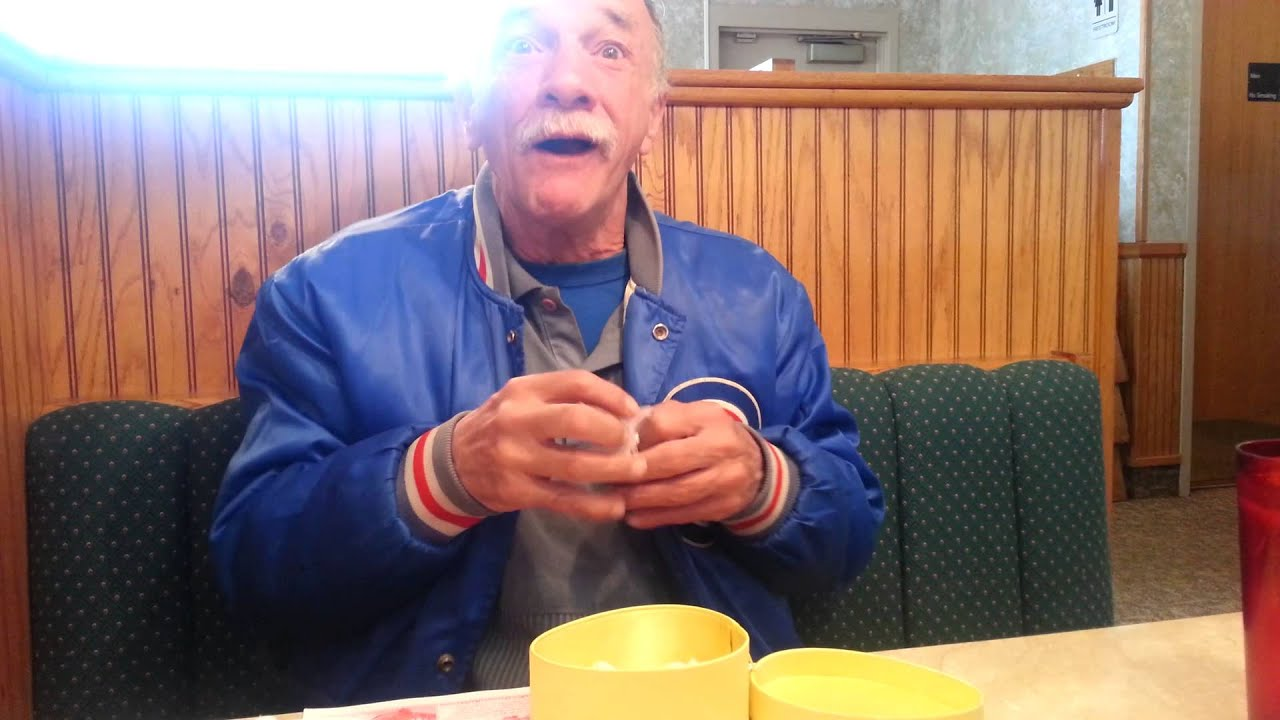 The Reveal To Grandpa YouTube - Man reacts when he finds out his wife is pregnant after 17 years of trying