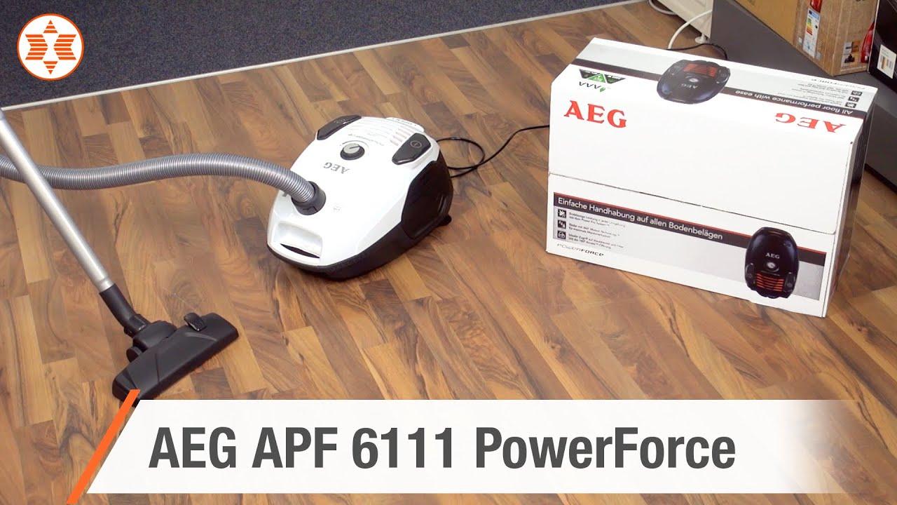aeg staubsauger apf 6111 powerforce experten angebot der woche youtube. Black Bedroom Furniture Sets. Home Design Ideas