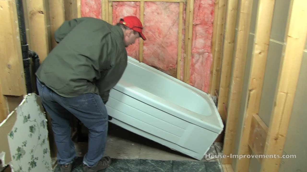 How To Remove A Bath Tub