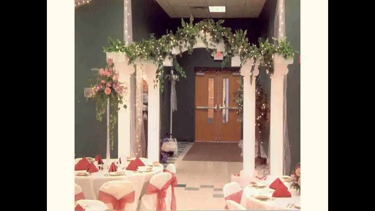 New wedding ceremony decoration ideas youtube for Wedding decorations home