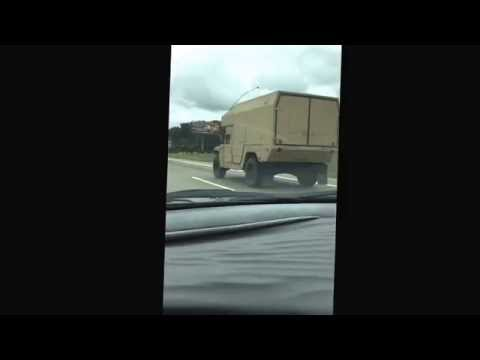 Military Convoy in Michigan, southbound US-23 08/26/2015