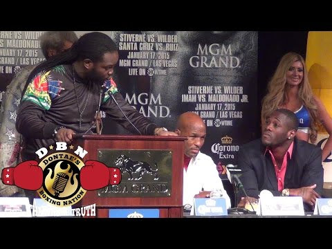 THE BEST FIGHT PRESS CONFERENCE OF THE YEAR!! FINAL PRESSER STIVERNE-WILDER