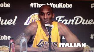 Kobe speaks Italian, Spanish and English
