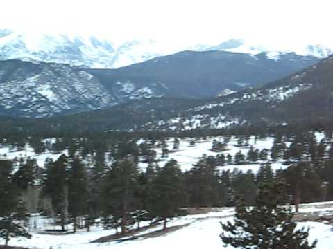 Beautiful Scenic View Of the peaks of the Rocky Mountains