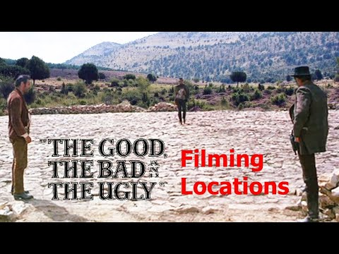 The Good, the Bad and the Ugly ( FILMING LOCATION VIDEO ) Leone Eastwood Ennio Morricone theme song