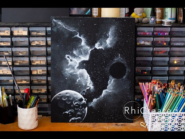 Space Rip -Quick look at an Acrylic Painting