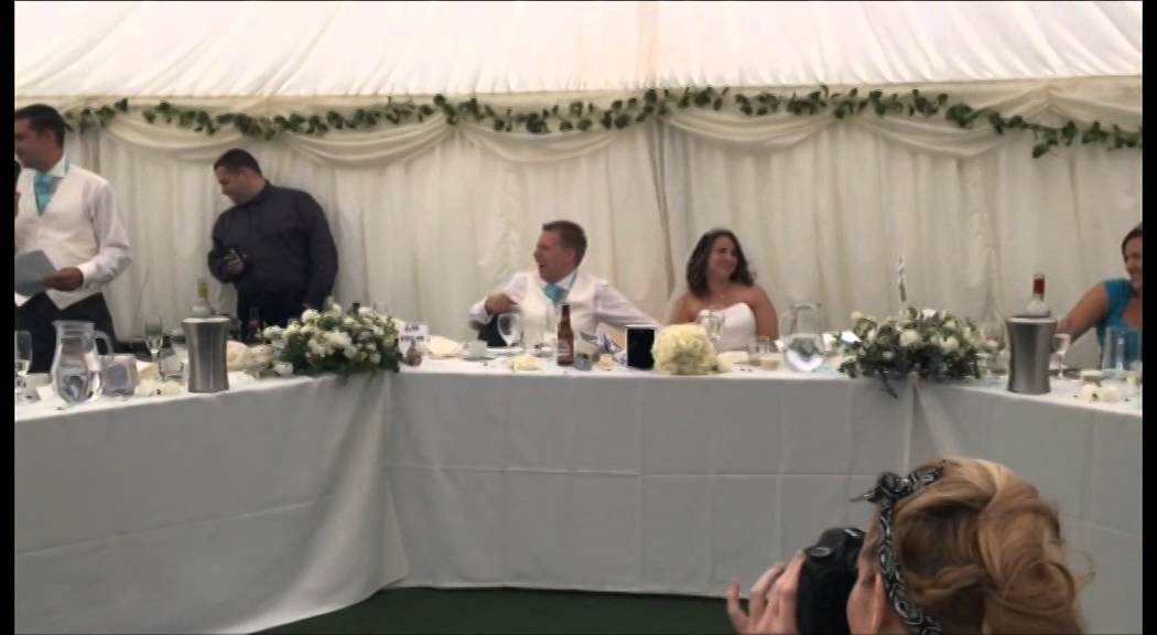 Wedding Speech Best Man Surprises Bride And Groom With Song Youtube