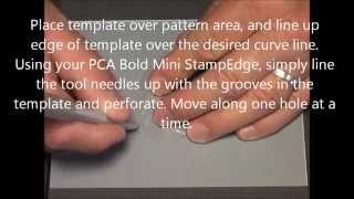 Parchment Craft PCA Small French Curve with Bold Mini EasyEdge Demo
