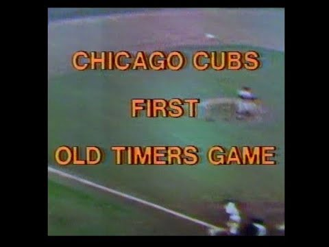 "WGN Channel 9 - Chicago Cubs First Old Timers Game: ""Cubs Old Timers vs. Hall of Famers"" (1977)"