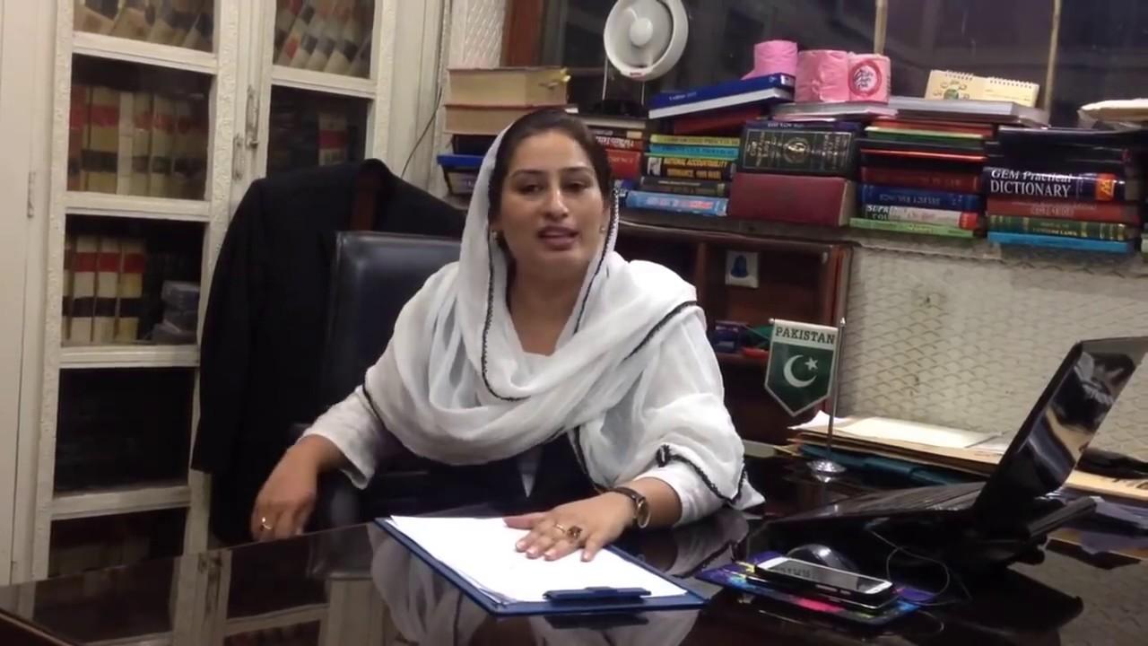 Female Family Lawyer Lahore Pakistan Syeda Feroza Rubab