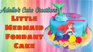 Little Mermaid Fondant Cake