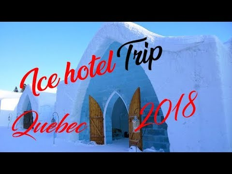 WENT TO THE ICE HOTEL IN QUEBEC CITY  | TRAVEL VLOG