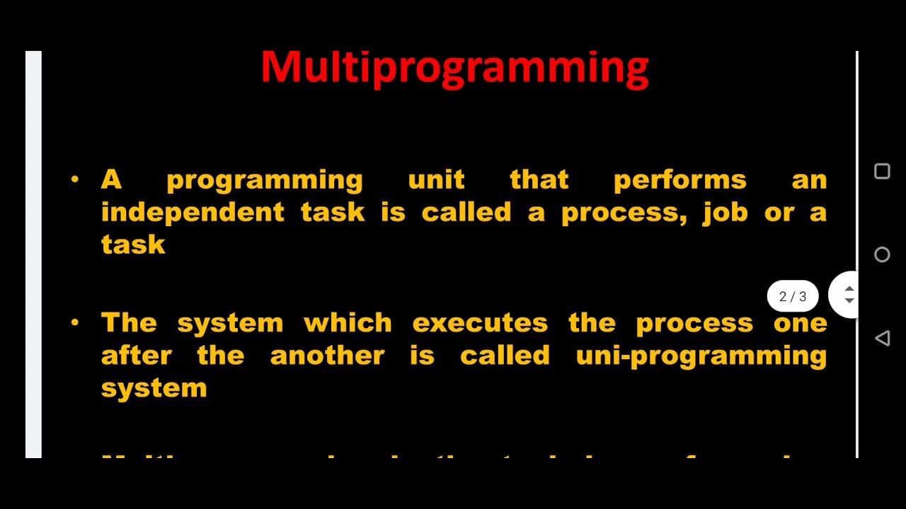 Multiprogramming - YouTube