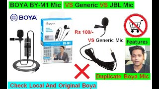BOYA BY-M1 Mic | Long Term Review| VS Generic Mic | Check Local & Original BOYA