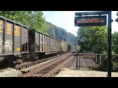 CSX Westbound Freight Train Passes Harpers Ferry Station, WV