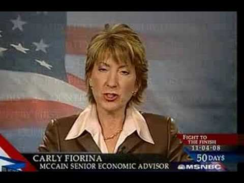 Carly Fiorina: Fired CEO of HP because she ran the company into the ground, and got paid hansomly while doing it.