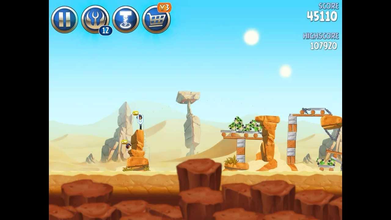 Angry Birds Star Wars 2 II B2-10 Bonus Maps Escape to ...
