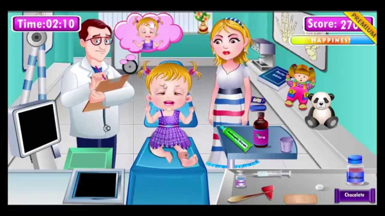 Baby Hazel Leg Injury - Play The Girl Game Online