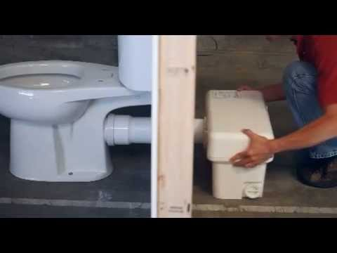 Captivating Liberty Pumps Ascent II 1.28 GPF Macerating Toilet System   Install A  Bathroom Anywhere
