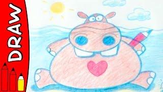 How To Draw A Hippo | Art Ideas For Kids | Øistein Kristiansen