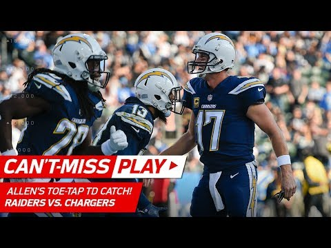 Keenan Allen's Amazing Toe-Tap TD Catch vs. Oakland! | Can't-Miss Play | NFL Wk 17 Highlights