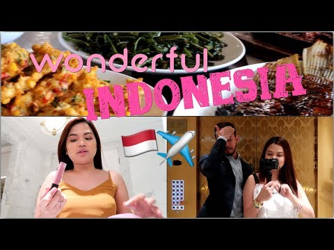 VLOG #42: QUICK BUSINESS TRIP TO INDONESIA | LOCAL MAKEUP AND FOODS | missMINEchin