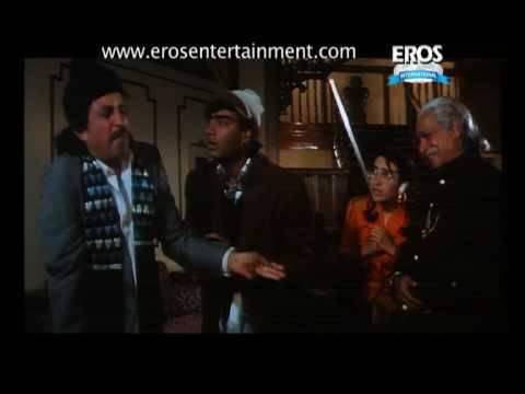 Ajay Devgn Tries To Con Kader Khan - Dhanwaan