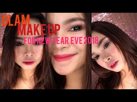 GLAM Make Up Look For New Year Eve 2018|| Biancha Aswin