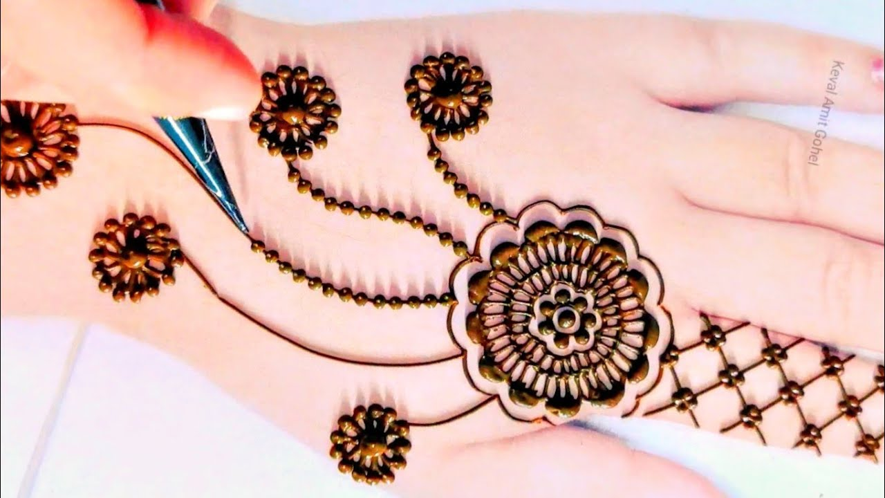 new mehndi design 2021 simple and easy