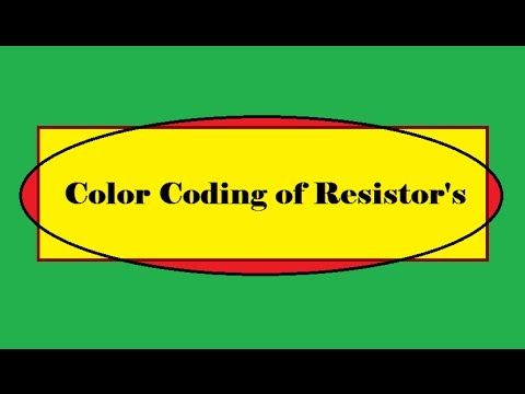 how to color code a resistor youtube