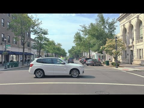 Driving Downtown - Greenwich Connecticut USA
