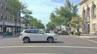 Driving Downtown - Wealthy Greenwich 4K -  Connecticut USA