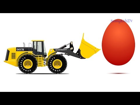 Thumbnail: Cars. Surprise Eggs. Learn Vegetables. Wheel Loader. Cartoons for Children.