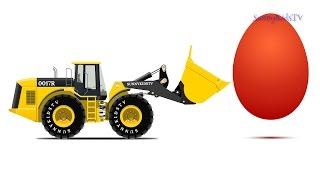 Cars. Surprise Eggs. Learn Vegetables. Wheel Loader. Cartoons for Children.