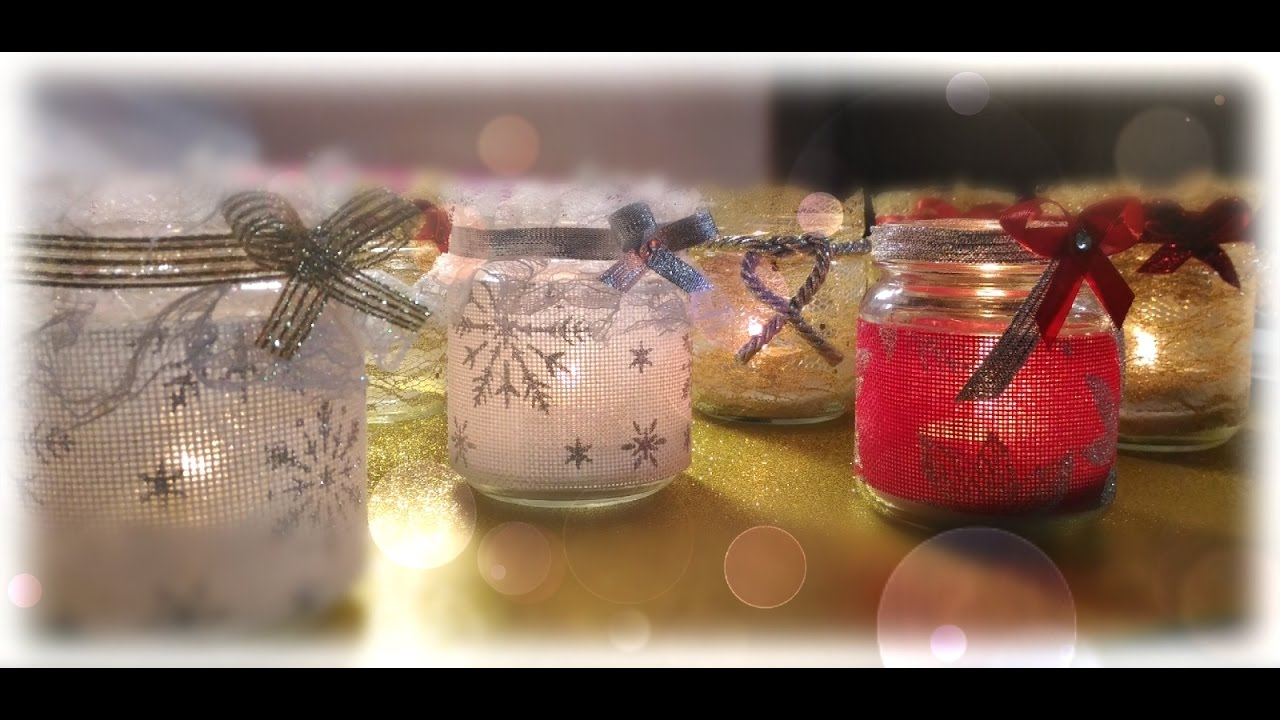Diy porta candele natalizie fai da te tutorial anielnails youtube - Portacandele natalizi fai da te ...