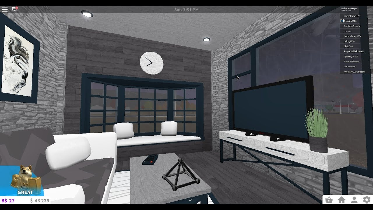 Roblox Welcome To Bloxburg Living Room Build Youtube