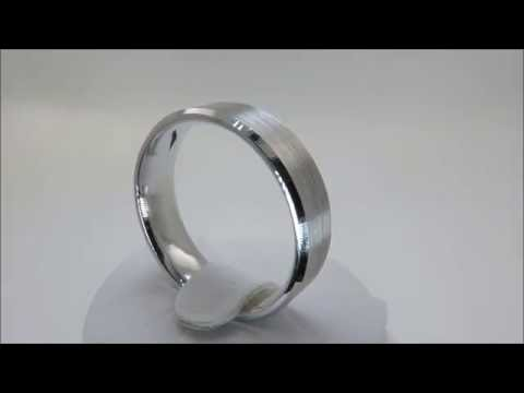 9ct-white-gold-heavy-mens-gents-wedding-band-ring-7.8g-size-t1/2-(00124)