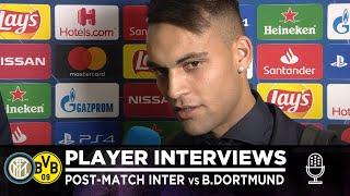 INTER 2-0 BORUSSIA DORTMUND | LAUTARO + ESPOSITO + CANDREVA + BARELLA INTERVIEWS [SUB ENG]