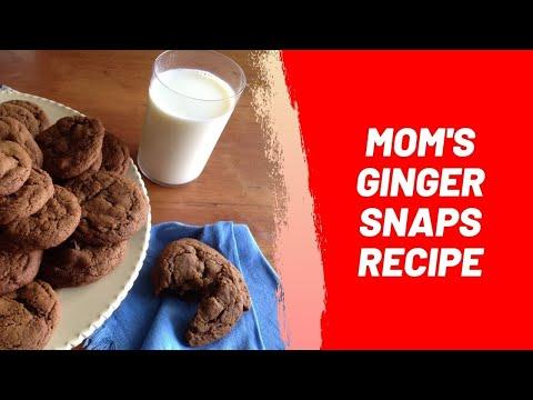 Mom's Ginger Snaps Recipe