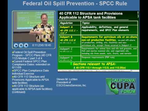 Federal Oil Spill Prevention SPCC Rule Module C