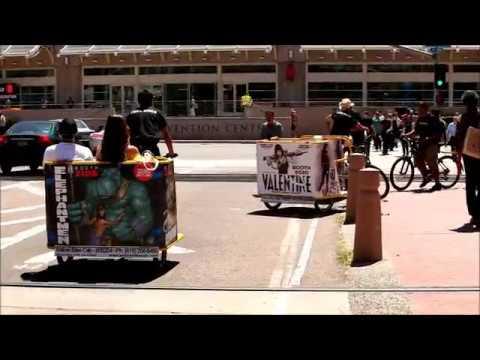 San Diego Convention Center Pedicab Advertising ASR Convention