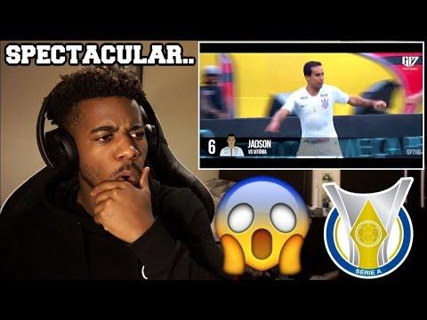 TOP 10 BEAUTIFUL GOALS IN THE BRAZILIAN LEAGUE 2018  Reaction