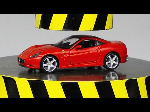 EXPERIMENT HYDRAULIC PRESS 100 TON vs FERRARI (toy)