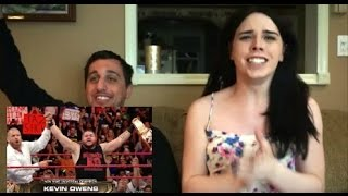 FANGIRL CRIES OVER KEVIN OWENS WINNING THE UNIVERSAL TITLE (REACTION)